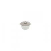 Кастрюля для сервировки с крышкой «Революшн» D=136, H=92мм; белый, св. корич.