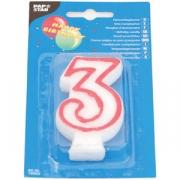 Свеча-цифра 3, ко дню рождения