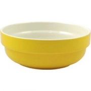 Салатник d=21см 1.85л желтый фарфор