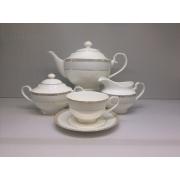 Сервиз чайный «Голубая лесенка» 17 предметов на 6 персон