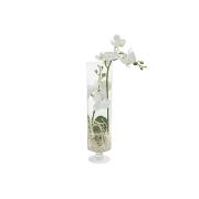 Декоративные цветы Орхидея белая в стекл вазе