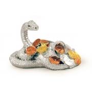 Статуэтка «Змея«(серебр) с монетами