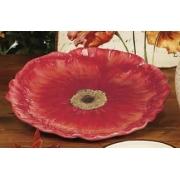 Блюдо круглое 30 см. в виде цветка «Парижские маки»