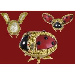 Декоративная шкатулка «Божья коровка» Размер 4,5х3,5х3см