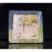 Набор 4 тарелки квадратные 21,5см «Утренняя песня»