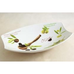Блюдо овальное (большое) «Оливки» 31х21 см