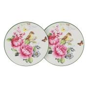 Набор из 2-х тарелок Цветы и птицы