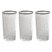 Набор: 6 хрустальных стаканов для воды Умбрия Матовая - платина