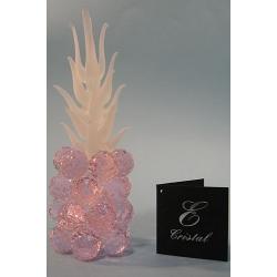 Ананас мини розовый, матовый лист, d 20 6х20 см.