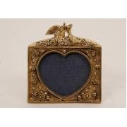 Фоторамка - «Сердечко» мал. золотистый 6х8 см.