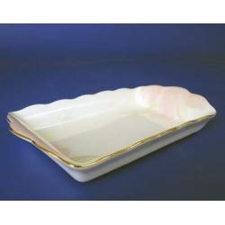 Н 1070011 Ирис ПИНК блюдо для масла 18см (зол.лента)