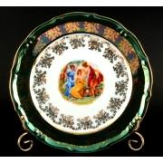 Набор тарелок «Мадонна зеленая» 24 см. 6 шт.
