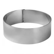 Кольцо кондитерское «Проотель», сталь, D=100,H=35мм, металлич.