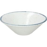 Салатник «Органика» D=20см; белый, синий