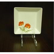 Салатник квадратный 15,3см «Красный мак»