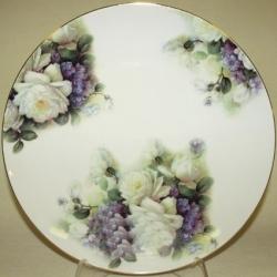 Набор из 2-х обеденных тарелок «Белые розы и сирень» 26,5 см