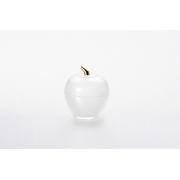 Вазочка с крышкой «Яблоко» 7,5*9 см, цвет: матовый с золотом