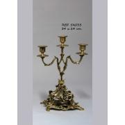 Пара канделябров 3 свечи на под-ке цвет - золото 4040/10