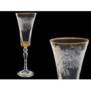 Бокал для шампанского ALEX, Золото внизу