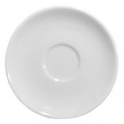 Блюдце, фарфор, D=12см, белый