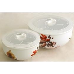 Набор из 2-х салатников с крышками «Овощное ассорти» 16 и 13 см