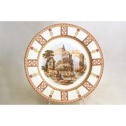 Обеденная тарелка 25 см «У старого замка»