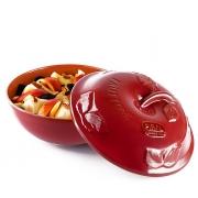 Форма для приготовления фруктовых дессертов 25 см круглая с крышкой красная