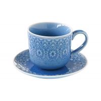 Чашка с блюдцем (голубая) Ambiente без инд.упаковки