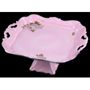 Блюдо квадратное 30 см н/н. «Алвин розовый»