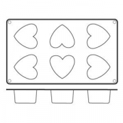 Форма для кондит.изд «Сердце» 5.5*5см силик