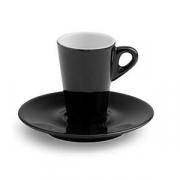 Чашка коф.с блюдцем; фарфор; 70мл; черный