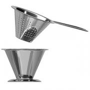 Сито для чая(с чашкой); сталь нерж.; D=7,H=5см; металлич.