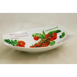 Блюдо овальное (большое) «Помидоры и оливки» 31х21 см