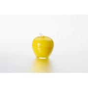 Вазочка с крышкой «Яблоко» 7,5*9 см, цвет: желтый