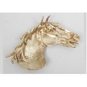 Пепельница - лошадь золотистый 17х22 см.
