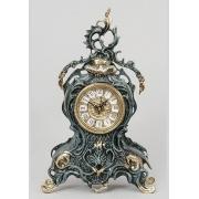Часы с завитком синий 35х21 см.
