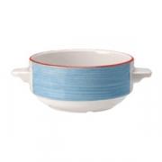 Бульонная чашка «Рио Блю», фарфор, 285мл, белый,синий