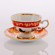 Набор для чая «Охота красная«(чашка200 мл. +блюдце) на 6 перс. 12 пред.
