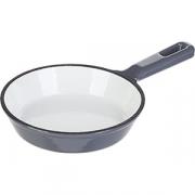 Сковорода порц. D=13, H=3см; серый, белый