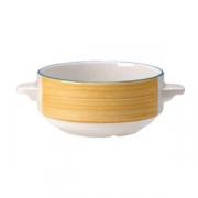 Бульонная чашка «Рио Еллоу», фарфор, 285мл, белый,желт.