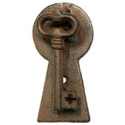 Стучалка в дверь «Ключ» чугун 7х13 см