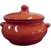 Горшок для запекания «Лакомка», керамика, 500мл, D=11,H=11см, тем.корич.