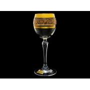 Бокал для вина Золотая коллекция, богатое золото (набор 6 шт.)