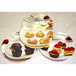 Набор из 4-х десертных тарелок «Пирожное» 19 см