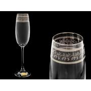 Бокал для шампанского Эсприт, Орнамент серебряный