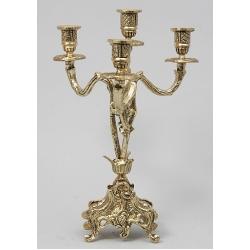 Пара канделябров 4 свечи золотистый 34х22 см.