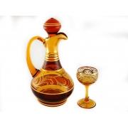 Набор для вина амбер (граф+6рюмок)