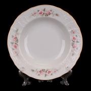 Набор глубоких тарелок 23 см. 6 шт «Роза серая 5396011»