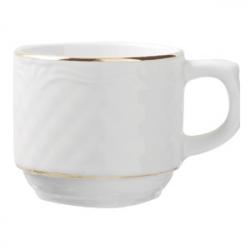 Чашка «Афродита» с зол. 100мл фарфор