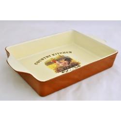 Квадратное блюдо для выпечки «Деревенское утро» 27х22 см